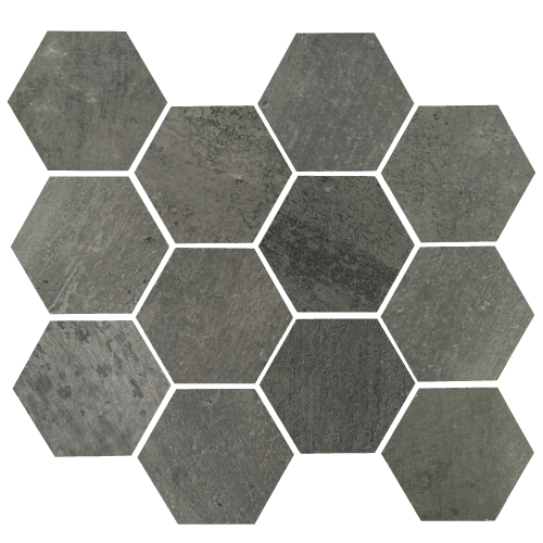 "Gun Powder Hex 11.69""x12.40"" Matte"