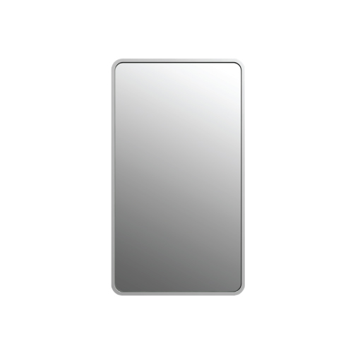 Figure Slim Mirror - White Solid Surface Frame