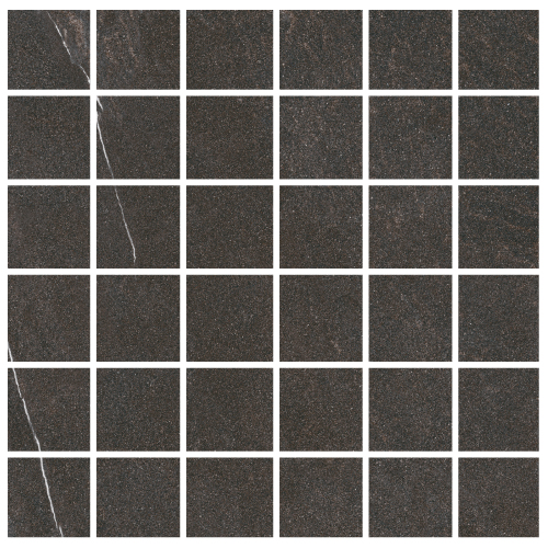"Lifestone - Dark Grey 2""x2"" Mosaic on 12""x12"" Sheet"