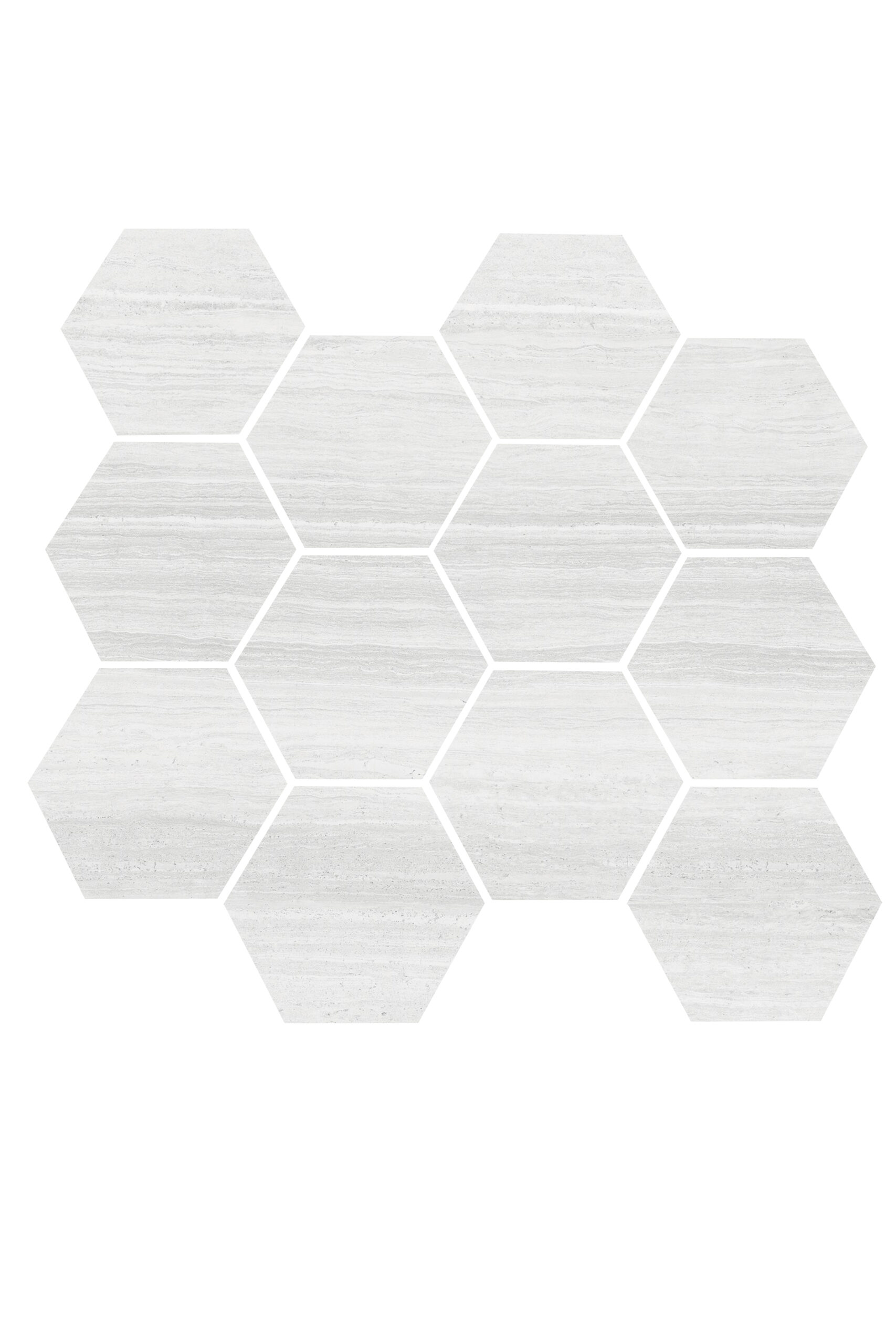"Pebble Beach 3.25"" Hex Mosaic Matte"